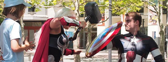 Photo taken at 2017 Impact Comics Festival - Thor vs Captain America